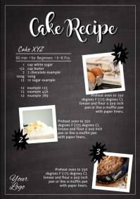 Recipe Recipes Cake Cooking Food Instruction Flyer