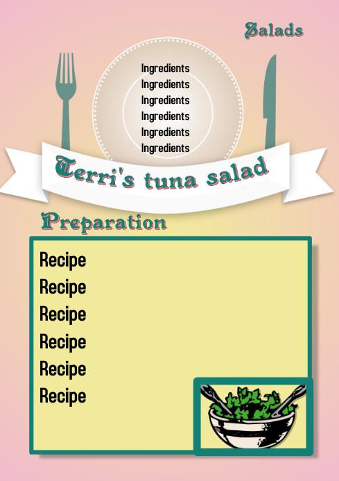recipe sheet template postermywall