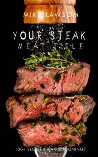 Recipe Steak Food BBQ Digital Book Cover Kindle Omslag template