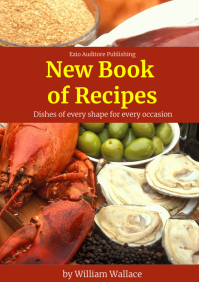 Recipes and cooking book cover template desig A4