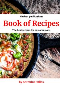 Recipes book cover design template A4