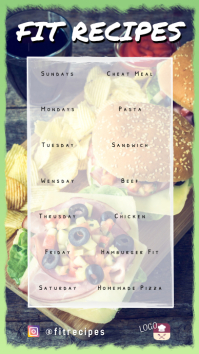 Recipes or meal of the day Instagram Story template