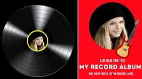 Record Album cover for artist Digital Display (16:9) template
