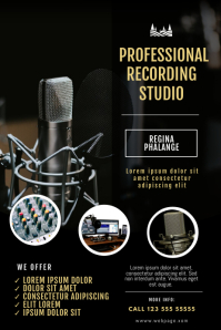 Recording Studio Flyer Template Poster