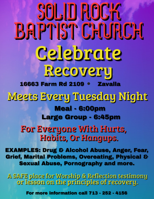 Recovery Flyer