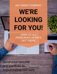 Recruiter / HR resume template Flyer (US Letter)
