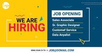 Recruitment facebook ad Facebook-annonce template