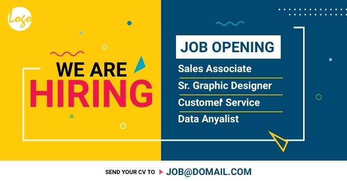 Recruitment facebook ad template
