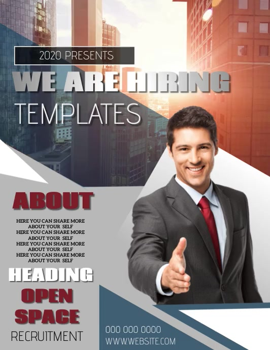 RECRUITMENT FLYER POSTER TEMPLATE Pamflet (VSA Brief)