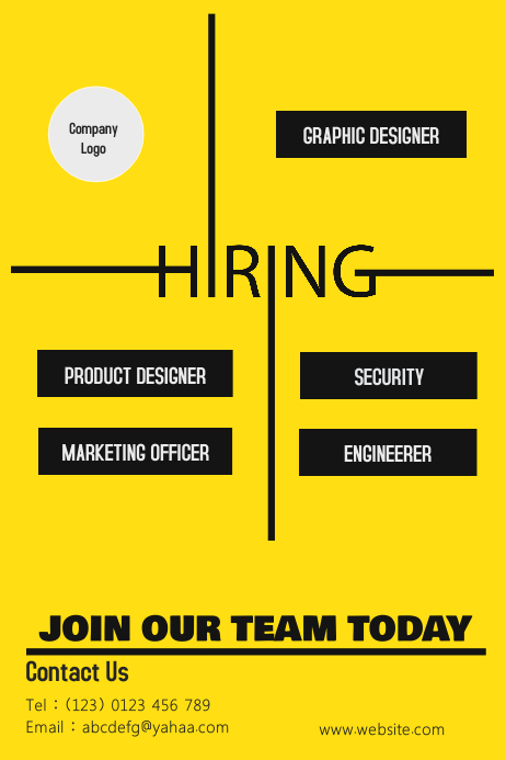 Recruitment Poster template