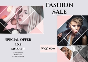 FASHION FLYER Kartu Pos template