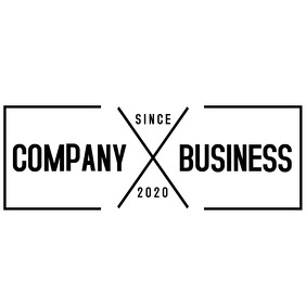 rectangular vintage logo Logotipo template