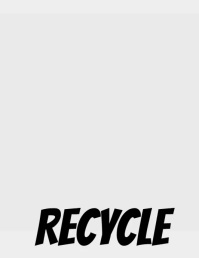 Recycle Flyer (US Letter) template