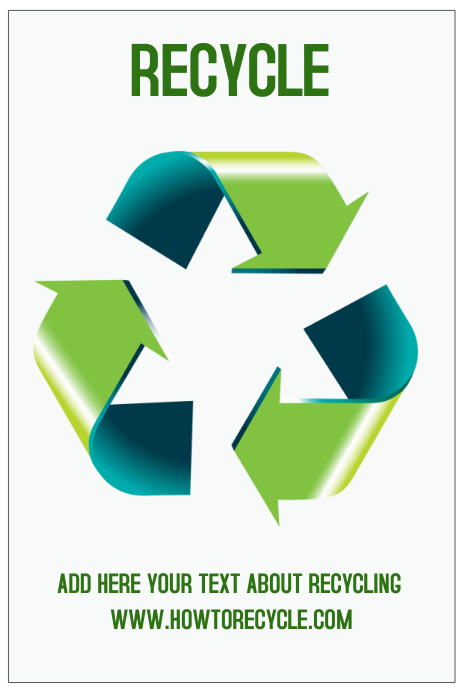 recycle poster template green environment