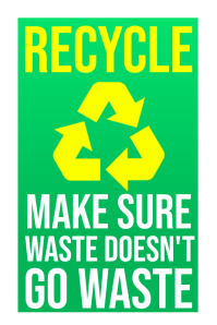 Recycle No Waste Sign Poster Template Affiche