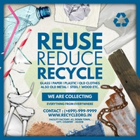 Recycle Waste Collection Template Instagram Post
