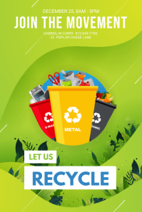 Recycling and Environmental Awareness Poster template