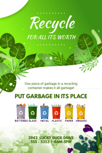 Recycling Awareness and Guidelines Poster template