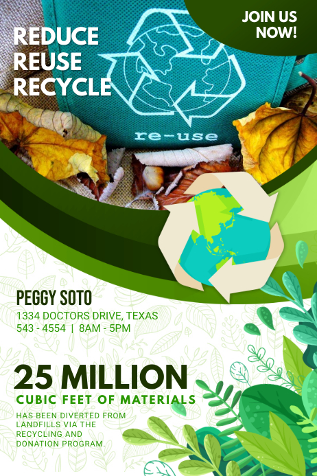 Recycling Campaign Advertisement Poster