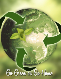 Recycling Flyer (US Letter) template
