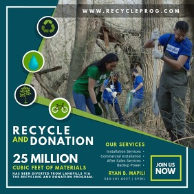 Recycling Drive Company Advertisement Video