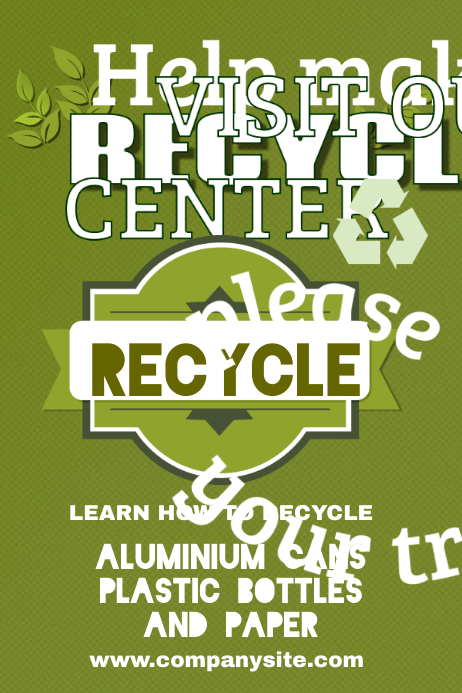 Recycling Poster Template