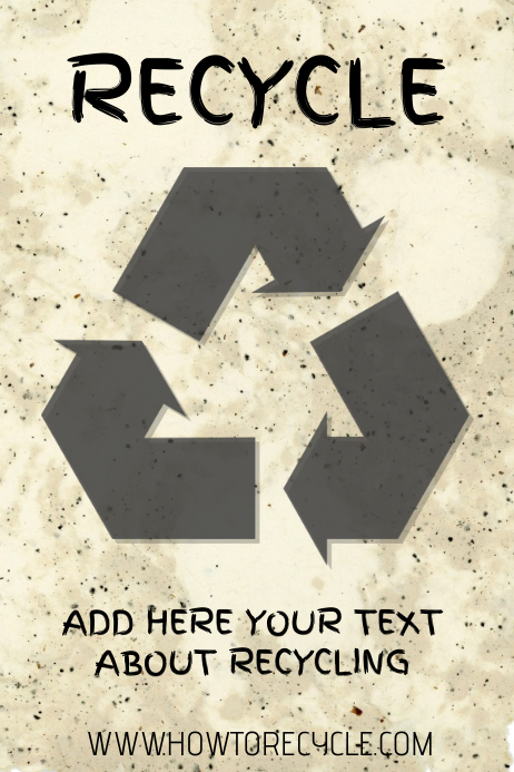 Recycling recycle poster template
