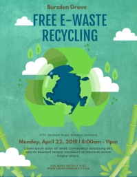 Recycling Run Invite Flyer