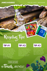 Recycling Tips and Guidelines Poster