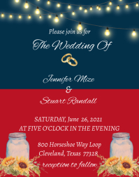 Red, White, and Blue Wedding Poster/Wallboard template