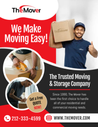 Red & Black Moving Company Flyer 传单(美国信函) template