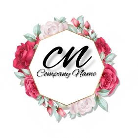 Red & Pink Rose Logo template