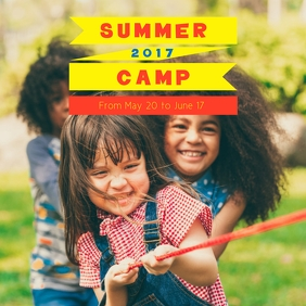 Red & Yellow Summer Camp Instagram Template
