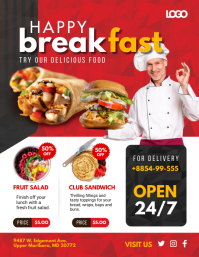Red 24/7 Breakfast Special Flyer