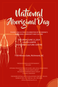 Red Aboriginal Day Event Poster Template