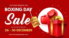 Red After Christmas Boxing Day Sale Digital B template