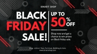 Red and black Black Friday sale Twitter post template