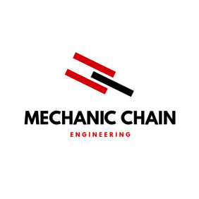 Red and Black Engineering Firm Logo