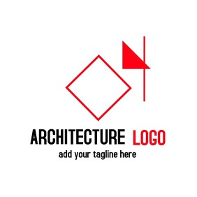 red and black geometric logo