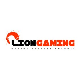 Red and black lion logo splash icon logo template
