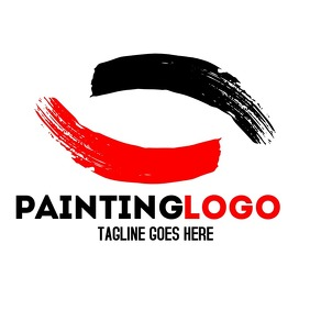 Red and black paint logo