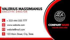 red and black professional business card desi Visitekaartje template