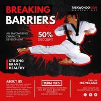 Red and Black Taekwondo Instagram Post Templa template