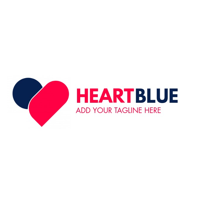 red and blue colors logo template design Logotipo