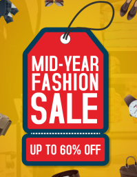 Red and Blue Fashion Mid-Year Sale Tag Templa Folder (US Letter) template