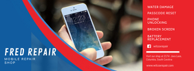 Red and Blue Mobile Repair Shop Facebook Cover