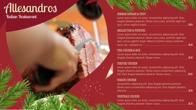 Red and Green Christmas Digital Signage Menu