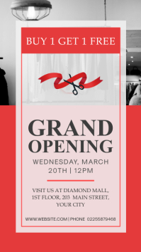 Red and Grey Retail Grand Opening Instagram S template