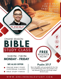 Red and White Bible Study Sessions Flyer