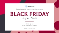 Red and white Black Friday sale Twitter post template